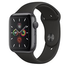 Apple Watch 5 GPS 44mm Space Gray Aluminum Case With Black Sport Band